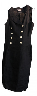 Max Mara Black Linen Dresses