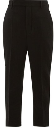 Rick Owens Easy Astaires Wool Trousers - Womens - Black