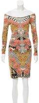 Alexander McQueen Floral Print Bodycon Dress