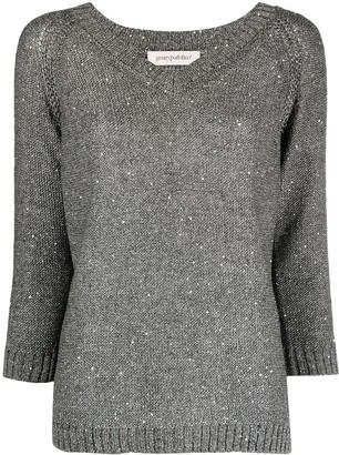 Gentry Portofino Sequin Embellished Knitted Jumper