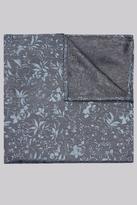 Moss 1851 Grey & Sky Floral Silk Pocket Square