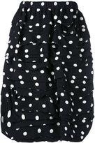 Comme des Garcons polka dots draped skirt - women - Silk/Wool - M