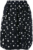 Comme des Garcons polka dots draped skirt - women - Silk/Wool - S