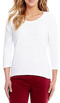 Allison Daley Scoop Neck 3/4 Sleeve Knit Top