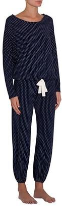Eberjey Geo Spots Slouchy Set (Peacoat/White) Women's Pajama Sets