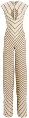Missoni Gold Striped Cut-Out Jumpsuit
