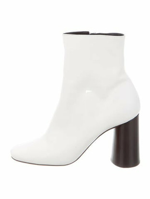 Celine Elliptic Leather Boots White