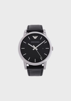 Emporio Armani Leather Strap Watch