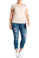 Melissa McCarthy Roll-Up Patch Skinny Jean (Plus Size)