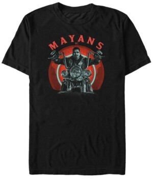 Mayans Men's M.c Geometric Ez Biker Short Sleeve T-Shirt