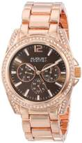 August Steiner Women's Pure Elegance Multifunction Watch with Two-Tone Dial and Bracelet AS8075TTR