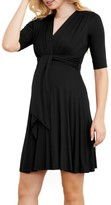Maternal America Women's Maternity Tie Front Dress