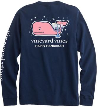 Vineyard Vines Kids 2019 Hanukkah Whale Long-Sleeve Pocket Tee