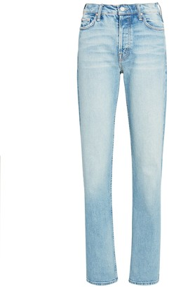 Mother Rider High-Rise Straight-Leg Jeans