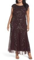 Pisarro Nights Plus Size Women's Beaded Gown