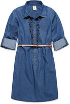Arizona Long Sleeve Chambray Shirt Dress - Girls 7-16 and Plus
