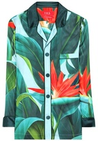 For Restless Sleepers Nemesi Printed Silk Shirt