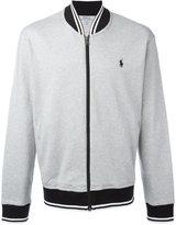 Polo Ralph Lauren logo embroidery bomber jacket - men - Cotton - M