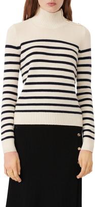 Maje Sailor Stripe Cashmere Sweater