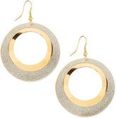 Greenbeads Double-Hoop Earrings, Golden