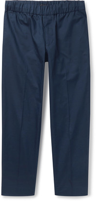 Club Monaco Slim-Fit Tapered Cotton-Blend Twill Trousers