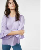 Express ruffle flare sleeve blouse