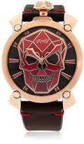 GaGa MILANO Bionic Skull Rose Gold Ion Plated Watch
