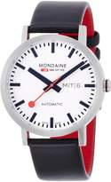 Mondaine Men's A132.30359.16SBB Analog Display Swiss Automatic Black Watch