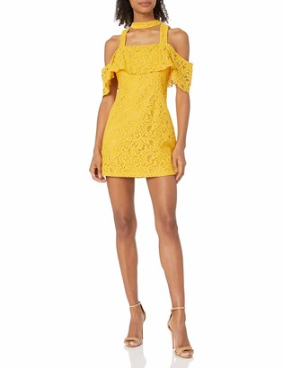 MinkPink Women's Enchantress Frill Cold Shoulder Lace Dress