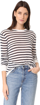 Alexander Wang Striped Rayon Linen Tee