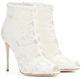 Dolce & Gabbana Lace Peep-toe Ankle Boots