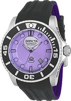 Invicta Men's 'Pro Diver' Automatic Stainless Steel and Silicone Casual Watch, Color:Grey (Model: 22991)
