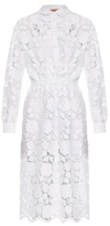 No.21 NO. 21 Floral-lace shirtdress