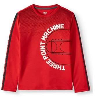 Athletic Works Long Sleeve Raglan Graphic T-Shirt (Little Boys, Big Boys, & Husky)
