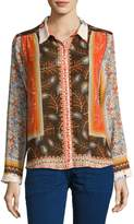 BA&SH Rosso Mixed Floral Shirt, Orange