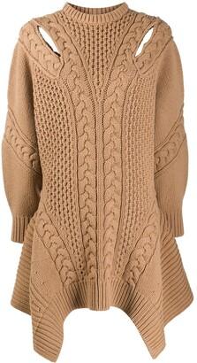 Alexander McQueen Knitted Handkerchief Hem Jumper