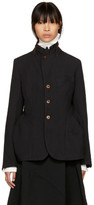 Comme des Garcons Black Button-Up Jacket