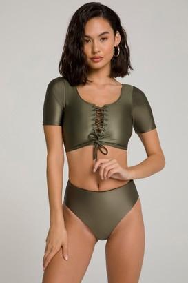 Good American Busty Bikini Top   Sage001
