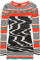 Missoni Layered Ribbed-knit Tunic - Black