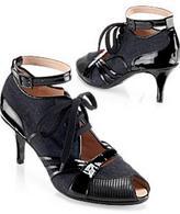 Denim and Patent Sneaker Pump