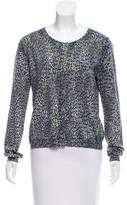 Allude Intarsia Knit Cardigan