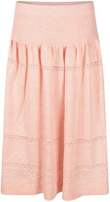 Studio Myr Calf-Length Bohemian Chic Knitted Skirt Sweety - Pink.