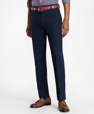Brooks Brothers Milano Fit Piece-Dyed Supima Cotton Stretch Chinos
