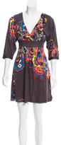 Tibi Retro Print Silk Dress