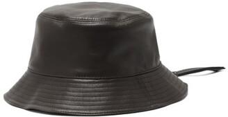 Loewe Fisherman Leather Bucket Hat - Black