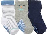 Robeez Blue & Gray Penguin Three-Pair Socks Set
