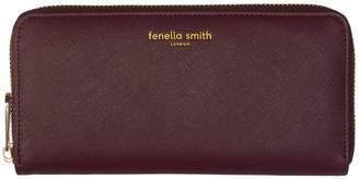 Fenella Smith Burgundy Vegan Leather Purse