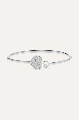 Chopard Happy Hearts 18-karat White Gold Diamond Cuff - one size