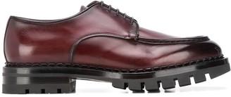 Santoni lug-sole Derby shoes