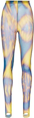 Chopova Lowena Optical Print Mesh Leggings